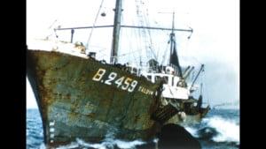 Bateau échoué à Boulogne-Sur-Mer