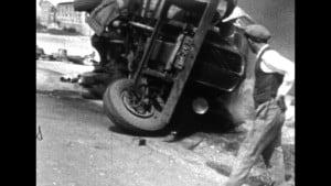 l'accident de camions à Poulainville